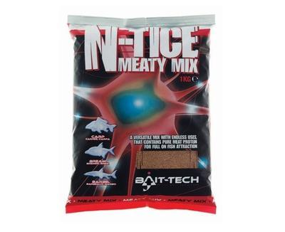 Bait-Tech Krmítková směs N-tice Meaty Mix Groundbait 1 kg (BT-2500010)