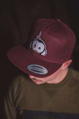 Monkey Climber kšiltovka Logo Patch Snapback Burgundy