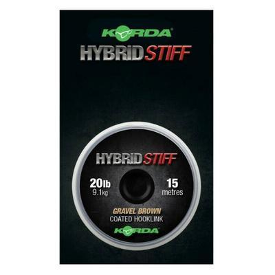 Korda ztužená šňůrka Hybrid Stiff Gravel Brown 20 lb 15 m (KHY6)