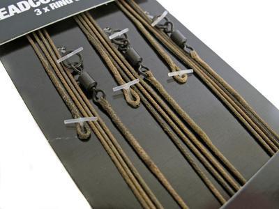Korda hotové montáže Kable Leadcore Leader Ring Swivel Weed/Silt (LLRSW) - 2