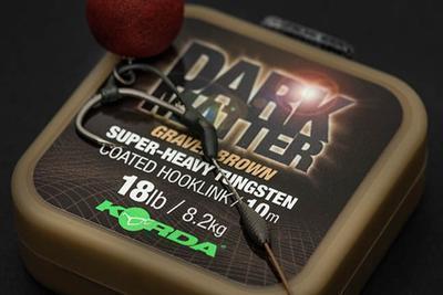 Korda ztužená šňůrka Dark Matter Tungsten Coated Hooklink - 2