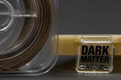 Korda ztužená šňůrka Dark Matter Tungsten Coated Hooklink - 3