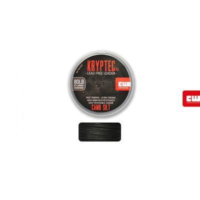 Carp Whisperer těžká šňůra Kryptec Lead Free Leader Weed zelená 80lb 1,2 mm (KLW) - 3