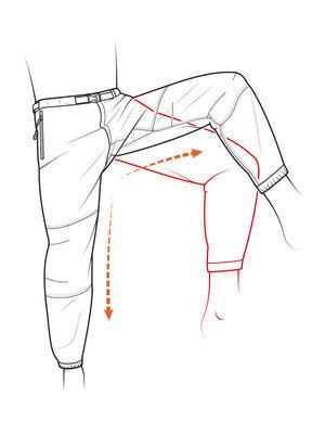 Fortis rybárske nohavice Elements Trail Pants DPM - 3